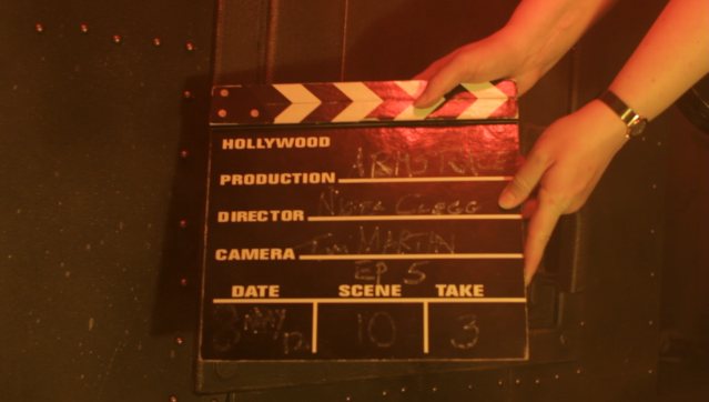 Arms Race clapperboard